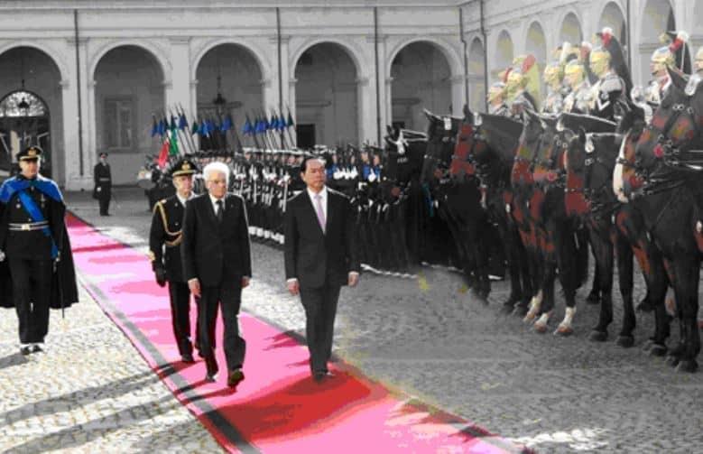 Il presidente vietnamita in Italia